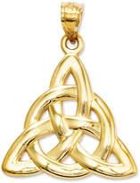 Macy's 14k Gold Charm, Polished Trinity Charm