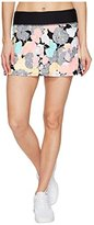 Trina Turk Recreation Women's Pop Floral Camo Tennis Skirt with Solid Pleated Back Detail