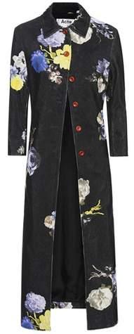 Acne Studios Floral-print corduroy coat