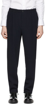 Giorgio Armani Navy Wool Sandwashed Trousers