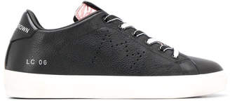 Leather Crown Leather Sneakers With Glitters