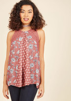 ModCloth Library Leisure Sleeveless Top in M