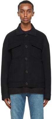 Acne Studios Navy Wool Twill Jacket