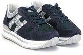 Hogan glitter sneakers - kids - Leather/Suede/Aluminium/rubber - 33