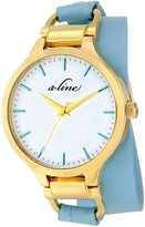A Line a_Line Women's AL-80027-YG-02-TURAS Gemini Analog Display Japanese Quartz Blue Watch