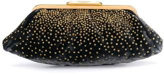 Fendi Pre-Owned 2000's bead embroidery stars clutch