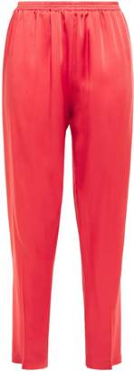 Forte Forte Forte_forte Cropped Gathered Satin-crepe Tapered Pants