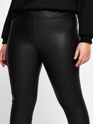 RI Plus High Waist Coated Legging - Black