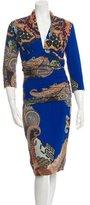 Etro Printed V-Neck Dress w/ Tags