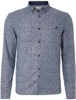 Rogan Men's Label Lab ditsy print long sleeve shirt