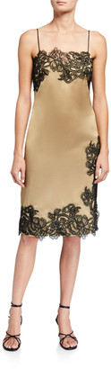 Jay Godfrey Jacobs Lace Trim Slip Dress