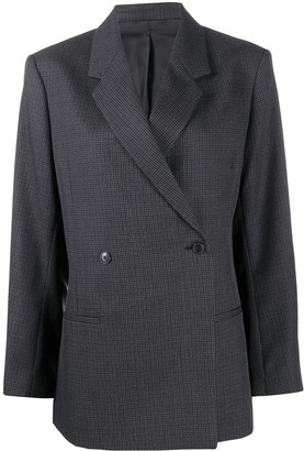 Totême Checkered Double-Breasted Blazer
