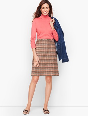Talbots Plaid Wool A-Line Skirt