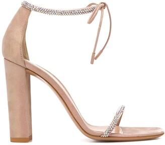 Gianvito Rossi Aria rhinestone-embellished sandals