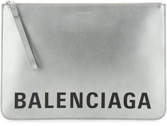 Balenciaga Logo Print Pouch