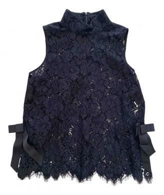 Ganni Black Lace Tops