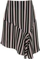 River Island Girls Black stripe print asymmetric skirt