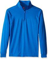 Hanes Men's Long Sleeve Quarter Zip Pullover