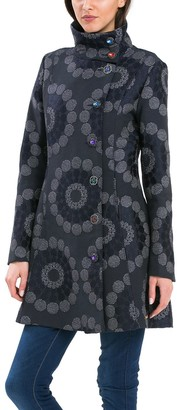 Desigual Women's Thick Quilted Overcoat
