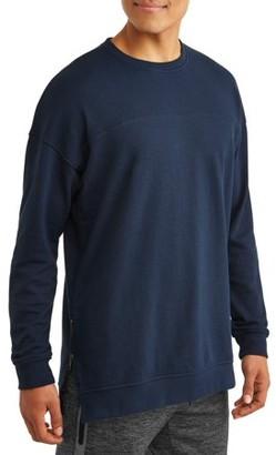 No Boundaries Men's Long Sleeve French Terry Crewneck Sweatshirt