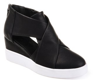Brinley Co. Womens Athleisure D'orsays Criss-cross Sneaker Wedges