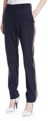 Calvin Klein Side-Stripe Straight-Leg Wool-Blend Pants