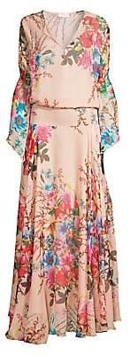 Eywasouls Malibu Women's Claire Floral Chiffon Blouson Gown