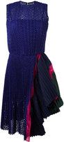 Sacai asymmetric dot lace dress - women - Cotton/Polyester/Cupro - 3