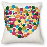 Amity Home Sweet Love Throw Pillow in White/Rainbow