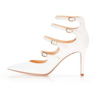 Marion Parke Mitchell | Leather Strappy Mary Jane Stiletto Pump