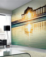 Graham & Brown Sunset by the Pier Wall Mural Wallpaper