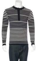 S.N.S. Herning Striped Wool Henley Shirt