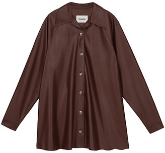Nanushka Joy Vegan Leather Shirtdress