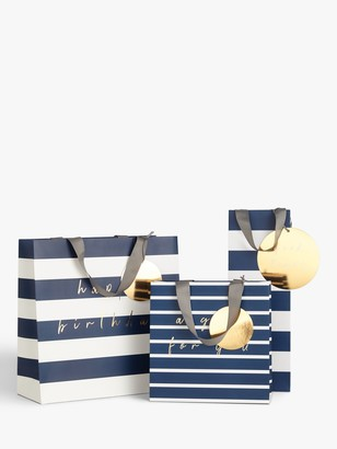 Belly Button Designs Navy Stripe Gift Bag