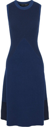 Proenza Schouler Color-block Ribbed-knit Dress