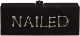 Edie Parker Flavia Nailed Suede Clutch