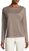 Lafayette 148 New York Audrey Metallic Striped Linen Top
