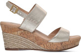 UGG Elena metallic-leather wedge sandals