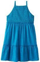 My Michelle Girls 7-16 Tribal Crochet Bodice Dress