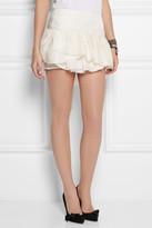 Isabel Marant Kyle ruffled silk-jacquard mini skirt