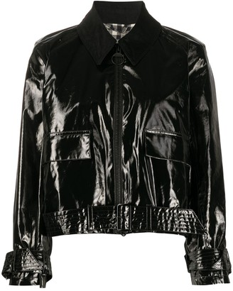 Barbour x Alexa Chung Emma PVC point-collar bomber jacket
