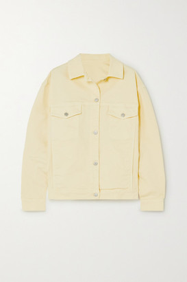 HOLZWEILER Helle Oversized Denim Jacket - Yellow