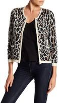 Joie Jacolyn B Animal Print Wool Blend Cardigan