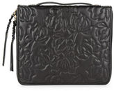 Ivanka Trump Quilted Floral Leather Tech Clutch