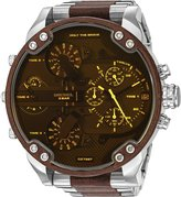 Diesel Men's DZ7397 Mr. Daddy 2.0 Stainless Steel and Brown Leather Watch