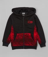 CB Sports Black & Red Pixel Zip-Up Hoodie - Boys