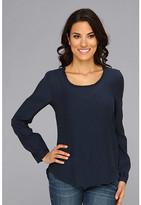 Calvin Klein Jeans L/S V-Neck w/Gather At Shoulders Top