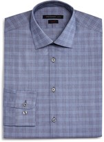 John Varvatos Window Check Slim Fit Dress Shirt
