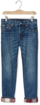Gap GapKids + Pendleton flannel-lined straight jeans