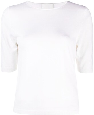 Allude Shortsleeved Wool Top